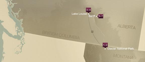 Montana and Alberta, Canada