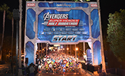 Starting line of Avengers Super Heroes Half Marathon