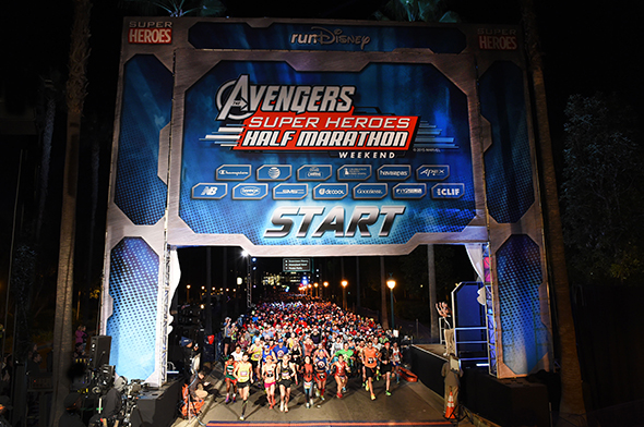 Start Line at 2015 Super Heroes Half Marathon Weekend