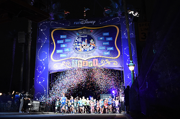 Disneyland 5K Starting Line with Confetti Celebration