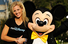 runDisney Mom Lori with Mickey